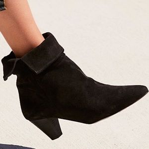 Free People Shoes - Free People Adella black suede booties boots suede